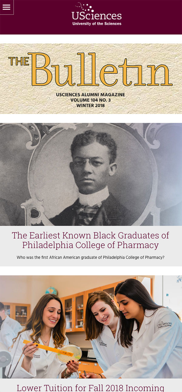 The Bulletin Online mobile view
