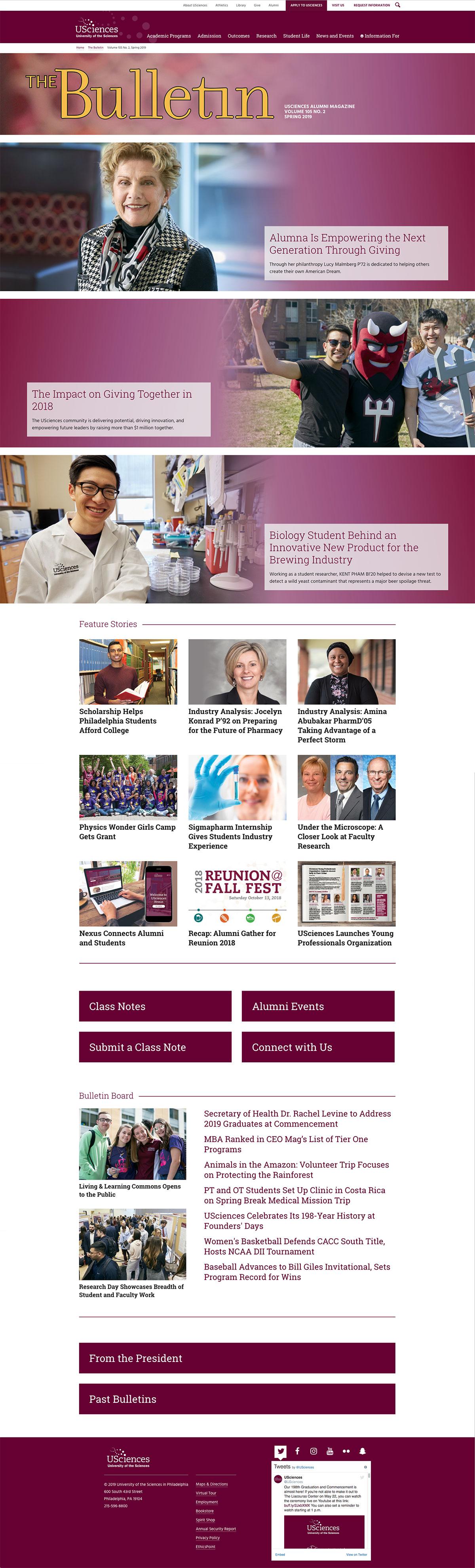 The Bulletin Online desktop view