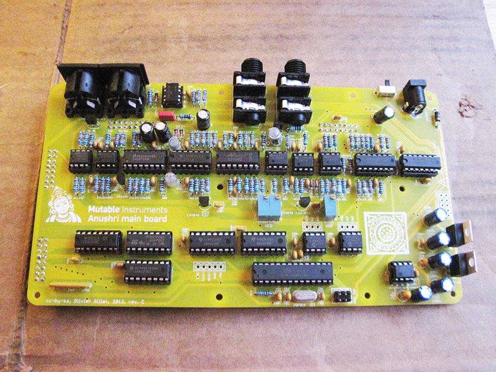 Socketing the ICs into the Mutable Instruments Anushri control board
