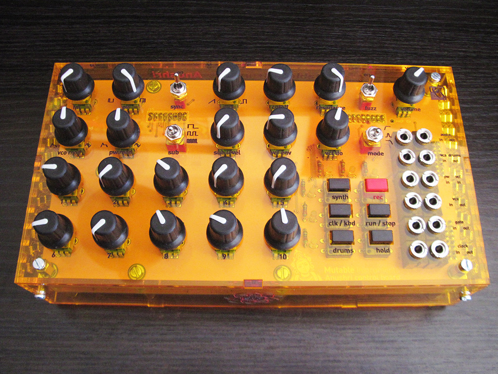 A long build finally finished, the assembled Mutable Instruments Anushri in all its glory