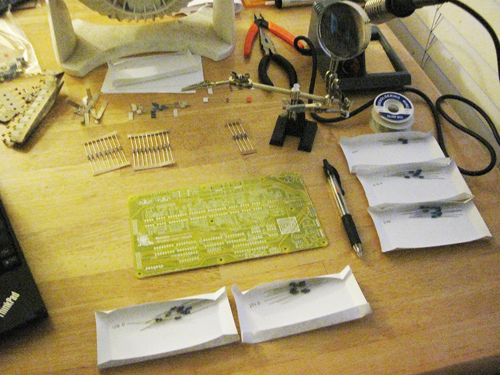My workspace while putting together the Mutable Instruments Anushri