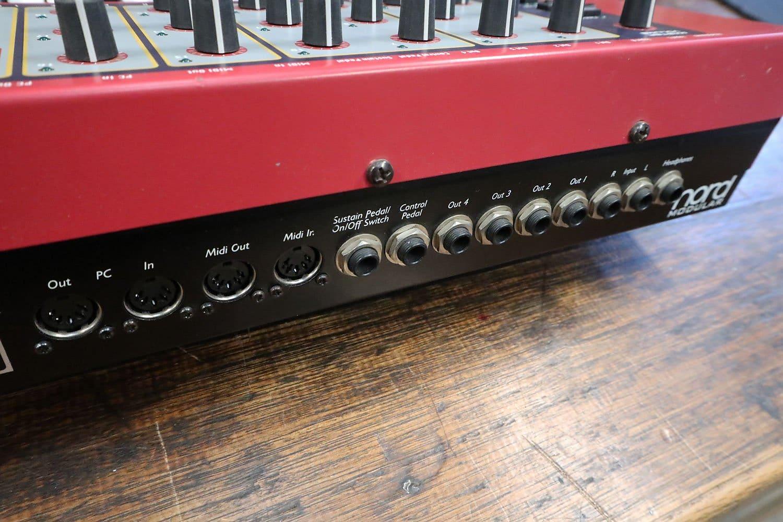 Nord Modular G1 back panel