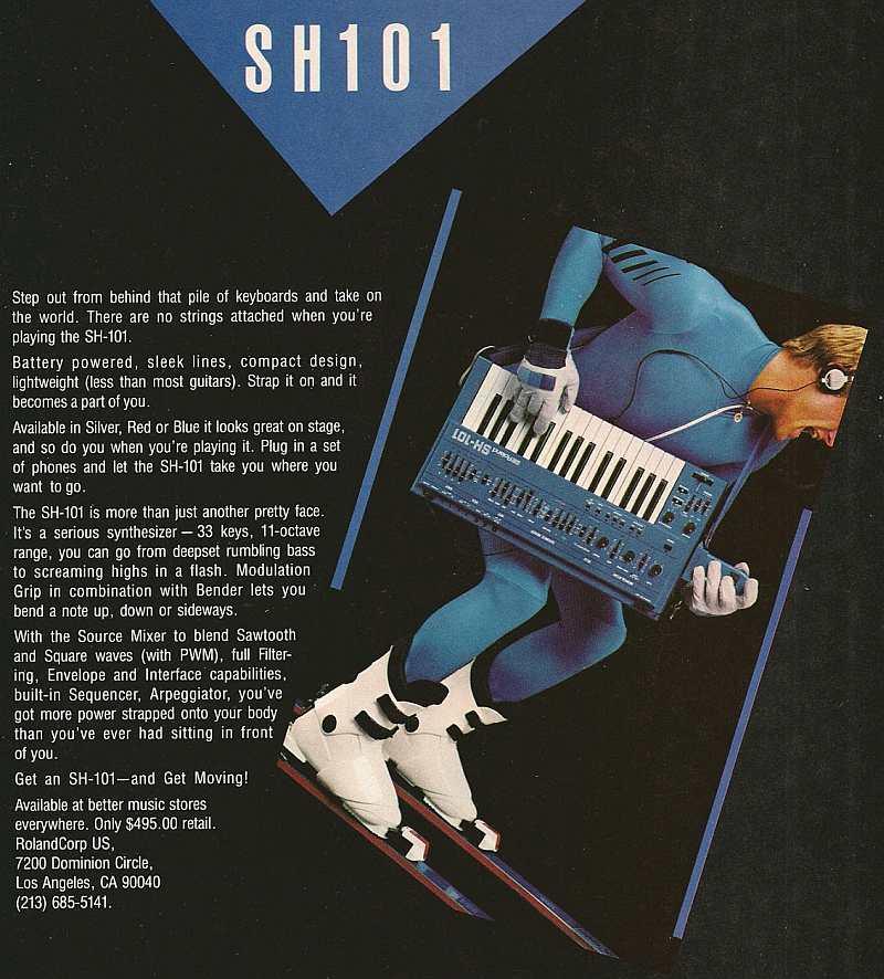 Roland SH-101 Ad