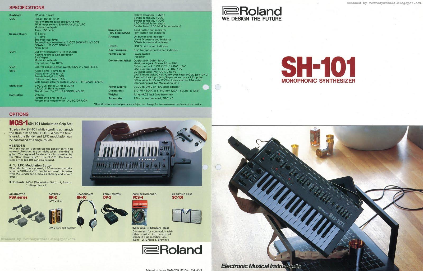 Roland SH-101 brochure